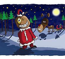 Odd Santa & Bob Reindeer by Glenn Jenner