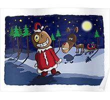 Odd Santa & Bob Reindeer Poster