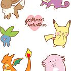 Pokemon Valentines Sticker Sheet by Steph Hodges