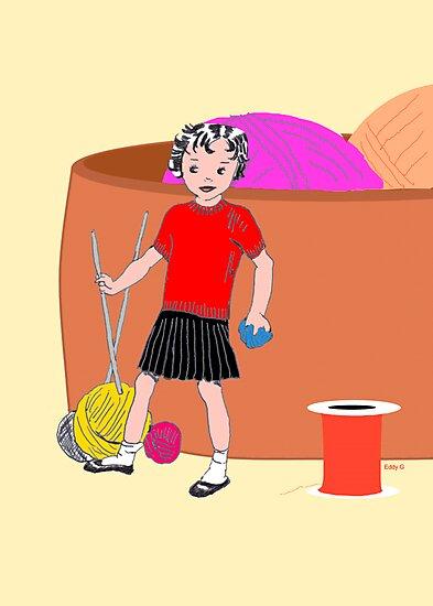 Daisy Doll helps out by EddyG