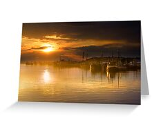 Lakes Entrance Sunset Greeting Card