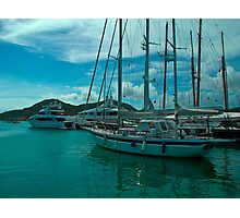 Antiguan Harbour Life Photographic Print