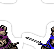 TEENAGE MUTANT NINJA EWOKS- battle Sticker