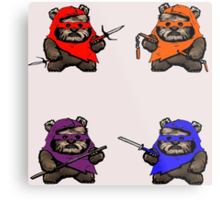 "TEENAGE MUTANT NINJA EWOKS ""TMNE"" Metal Print"