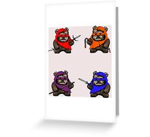 "TEENAGE MUTANT NINJA EWOKS ""TMNE"" Greeting Card"