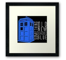 Something Blue Framed Print