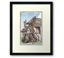 Vintage View of Fable House Framed Print