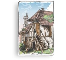 Vintage View of Fable House Canvas Print