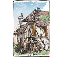 Vintage View of Fable House Photographic Print