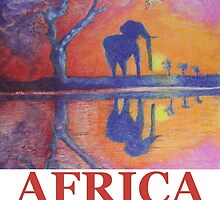 African Landscape with Elephant by Monica Batiste