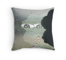 Pepe, the Sad Frog (Rainy Window) Throw Pillow