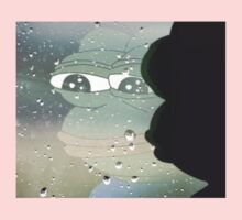 Pepe, the Sad Frog (Rainy Window) Kids Tee