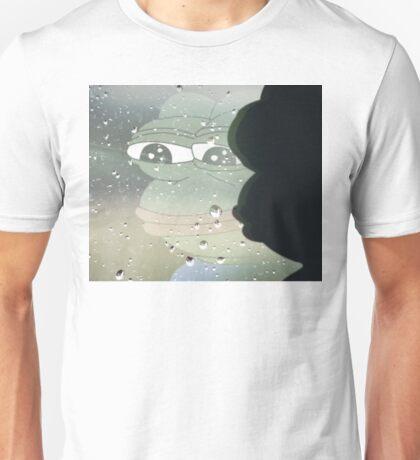 Pepe, the Sad Frog (Rainy Window) Unisex T-Shirt