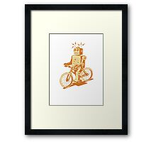 robot on fixie Framed Print