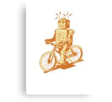 robot on fixie Canvas Print