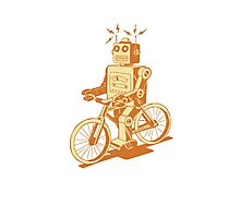 robot on fixie Photographic Print
