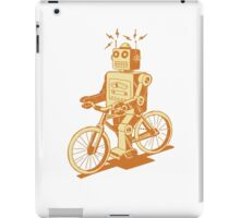 robot on fixie iPad Case/Skin
