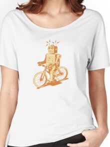 robot on fixie Women's Relaxed Fit T-Shirt