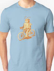 robot on fixie Unisex T-Shirt