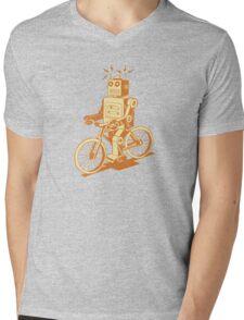 robot on fixie Mens V-Neck T-Shirt