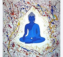 Unveiling Reality - Blue Buddha by Maureen Silc