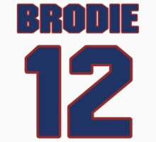 National football player John Brodie jersey 12 by imsport