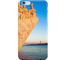 Lisbon . Monument to the Discoveries. Tejo river iPhone Case/Skin