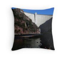 Flaming Gorge Dam Throw Pillow
