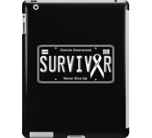 Cancer Survivor License Plate Shirt  iPad Case/Skin
