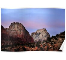 Great White Throne, Zion National Park Poster