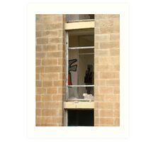 Malta Ruins looking through the window Art Print