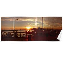 portsmouth harbour sunset Poster