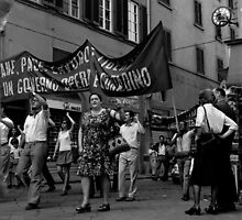 Demonstrators, Florence by david malcolmson