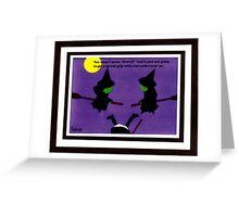 """Haints' - Broom Advice Greeting Card"