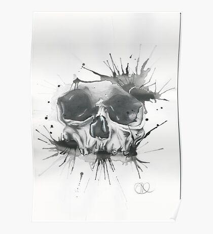 Splatter Skull  Poster