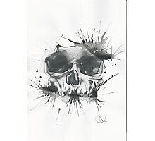 Splatter Skull  Photographic Print