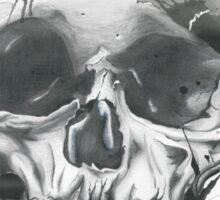 Splatter Skull  Sticker