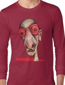 Insomniac w. redbubble logo Long Sleeve T-Shirt