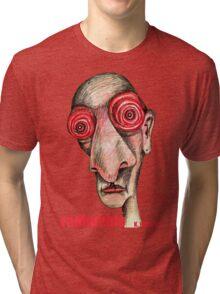 Insomniac w. redbubble logo Tri-blend T-Shirt