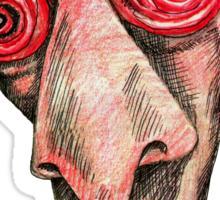 Insomniac w. redbubble logo Sticker