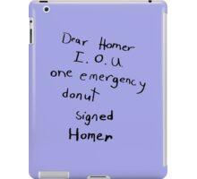 IOU one emergency donut iPad Case/Skin