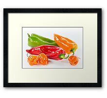 Peppers & Chillies Framed Print