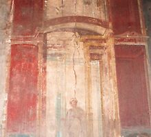 Fresco on wall of the bathes in Pompei by Marylamb