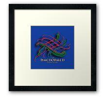 Clan MacDonald Tartan Twist Framed Print
