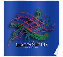 Clan MacDonald Tartan Twist Poster