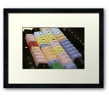 Avid Keyboard Medium Shot Framed Print