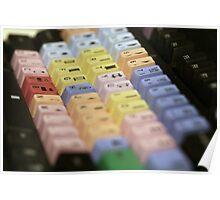 Avid Keyboard Medium Shot Poster