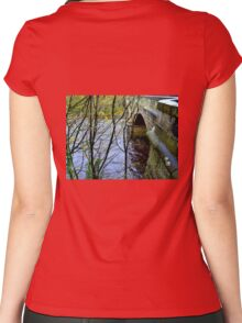 The Old Garrion Bridge , Scotland Women's Fitted Scoop T-Shirt