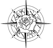 Rose Compass by clairetokley