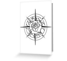 Rose Compass Greeting Card